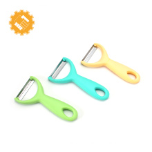 Fashion multi-functional stainless steel vegetable potato peeler with colorful handle